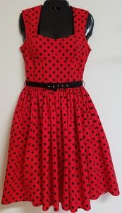Bernie Dexter Retro Vintage Polka Dots Swing Dress